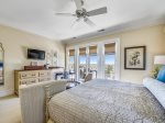 Master Bedroom with King Bed, TV and Private Bath at 10 East Wind